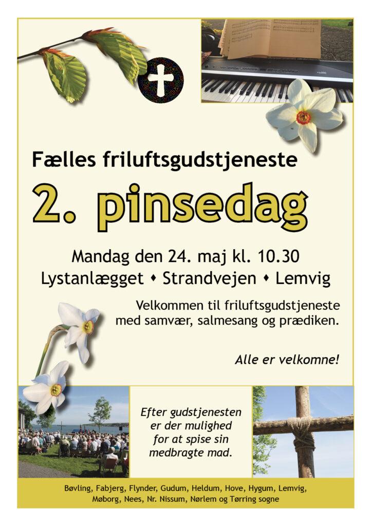 Fælles friluftsgudstjeneste 24. maj kl 10:30 i Lystanlægget Lemvig